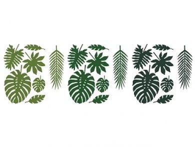 Διακοσμητικά Χάρτινα Τροπικά Φύλλα (21Τμχ)