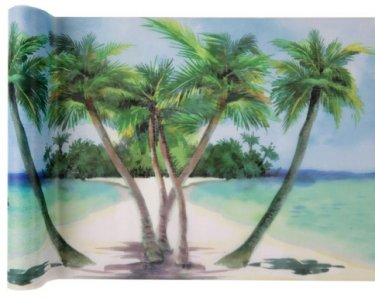 Tropical Paradise Runner for The Table (30cm x 5m)