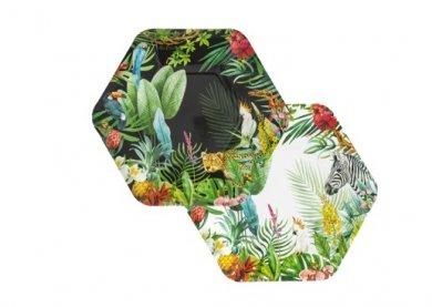 Τροπική Ζούγκλα Χάρτινα Πιάτα (8τμχ)