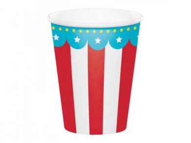 Circus Party Paper Cups (8pcs)