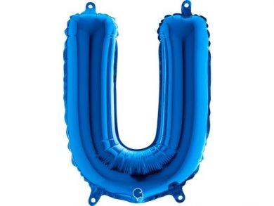 U Letter Balloon Blue (35cm)