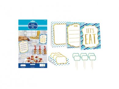Blue Candy Buffet Decorating Kit (12pcs)