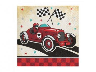 Vintage Αγωνιστικό Αυτοκίνητο Χαρτοπετσέτες (16τμχ)