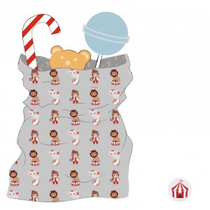 Vintage Circus Paper Treat Bags With Stickers (25pcs)