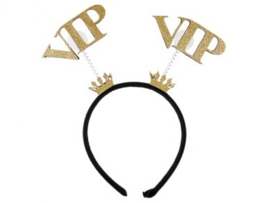 VIP Μαύρη Στέκα με Χρυσές Κορώνες