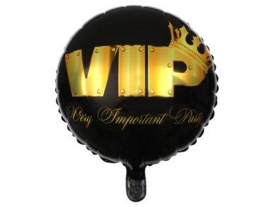 VIP Crowned Black foil balloon (35cm x 18cm)