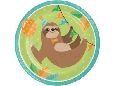 Sloth Party Large Paper Plates (8pcs)