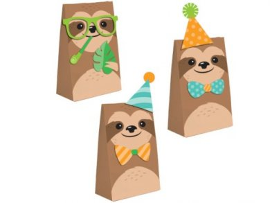 Sloth Party Treat Bags (8pcs)