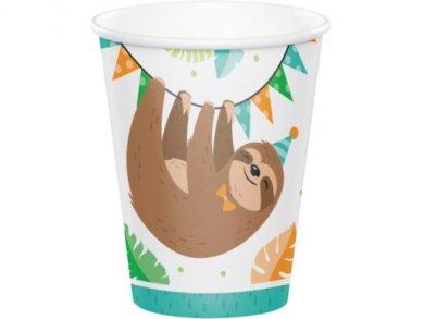 Sloth Party Paper Cups (8pcs)