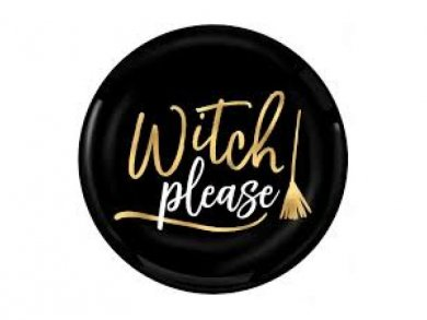 Witch Small Plastic Plates 4pcs