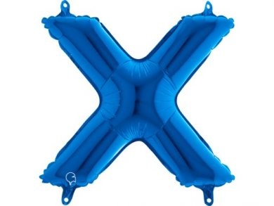 X Letter Balloon Blue (35cm)
