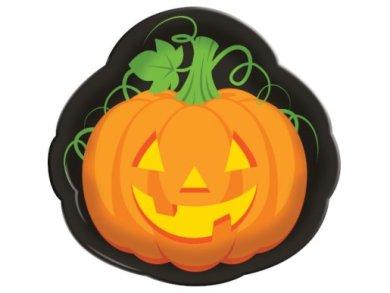 Grinning Pumpkin Plastic Tray (33,5cm)