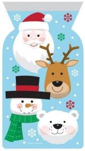 Χαρούμενα Χριστούγεννα Πλαστικά Σακουλάκια Με Zipper (12τμχ)