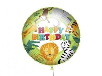 Happy Animals of The Jungle Foil Balloon 46cm