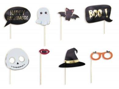 Happy Halloween Photo Booth Props (8pcs)