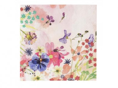 Floral Beverage Napkins 20pcs