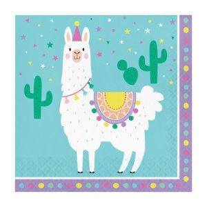 Luncheon Napkins Llama Party (16pcs)