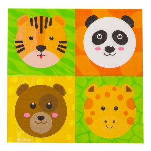 Luncheon Napkins Smiling Animals (16pcs)