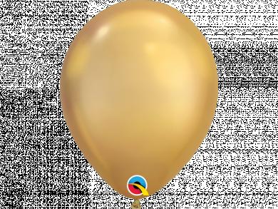 Gold Chrome Latex Balloons 6pcs