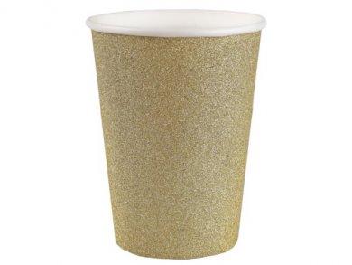 Gold Glitter Paper Cups (10pcs)