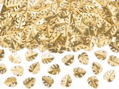 Χρυσά Τροπικά Φύλλα Κομφετί για Το Τραπέζι (15γρ)