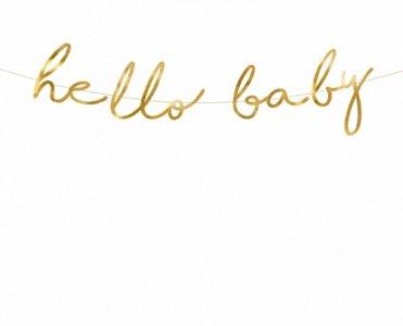 Hello Baby Gold Bunting (70cm)