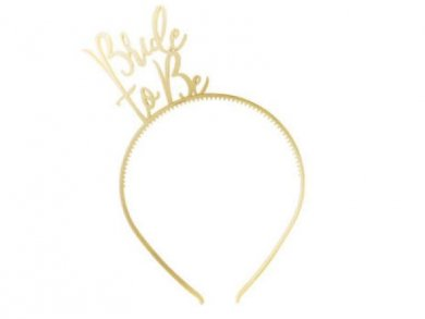 Gold Bride to be Headband