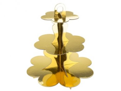 Gold 3 Tier Cupcake Stand (34cm)