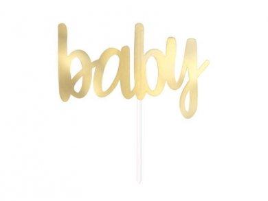 Χρυσό Baby Αξεσουάρ για Τούρτα (15,2εκ)