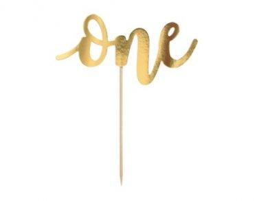 Χρυσό One Αξεσουάρ για την Τούρτα (19εκ)