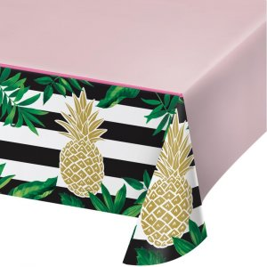 Gold Pineapple Plastic Tablecover
