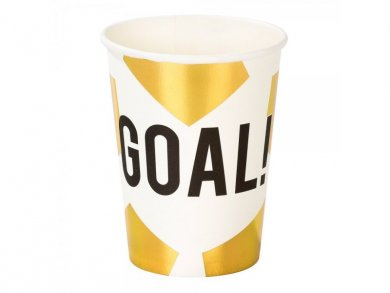 Gold Soccer Champion Paper Cups (8pcs)
