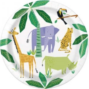 Animal Safari Large Paper Plates (8pcs)