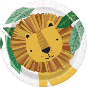 Animal Safari Small Paper Plates (8pcs)