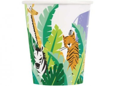 Jungle Safari Paper Cups (8pcs)