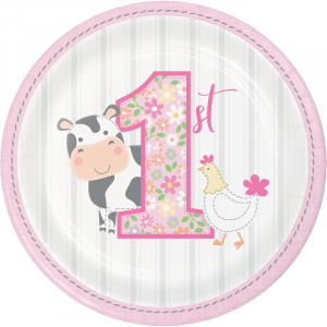 Farm Animals - First Birthday - Girls Party Supplies