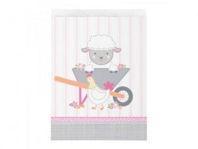 Farm Animals for Girls Paper Treat Bags (10pcs)