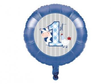 Farm Animals Blue Foil Balloon (45,7cm)