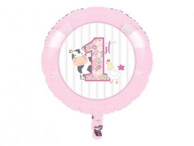 Farm Animals Pink Foil Balloon (45,7cm)