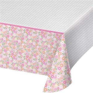 Farm Animals Pink Plastic Tablecover (137cm x 259cm)