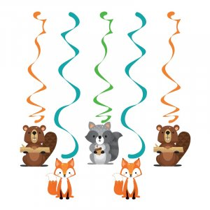 Wild Animals Hanging Decorations (5pcs)
