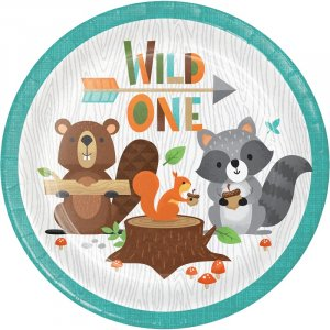 Wild Animals Small Paper Plates (8pcs)