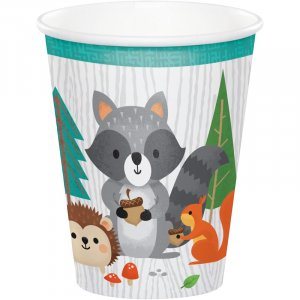 Wild Animals Paper Cups (8pcs)