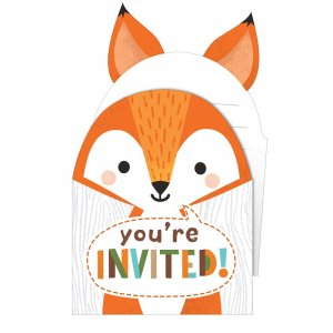 Wild Animals Party Invitations (8pcs)