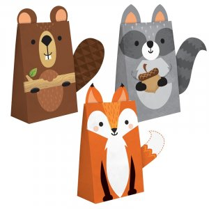 Wild Animals Paper Treat Bags (8pcs)