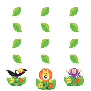 Ζούγκλα Σαφάρι Κρεμαστά Διακοσμητικά (3τμχ)