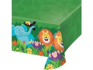 Jungle Safari Plastic Tablecover (137cm x 259cm)
