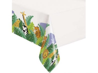 Animal Safari Plastic Tablecover (137cm x 213cm)