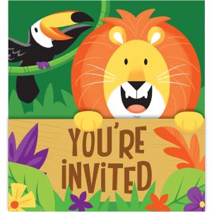 Jungle Safari Party Invitations (8pcs)