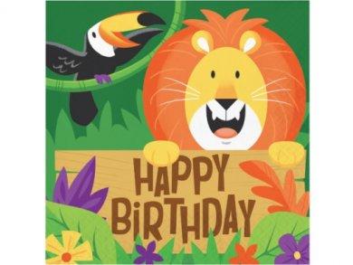 Jungle Safari Luncheon Happy Birthday Napkins (16pcs)